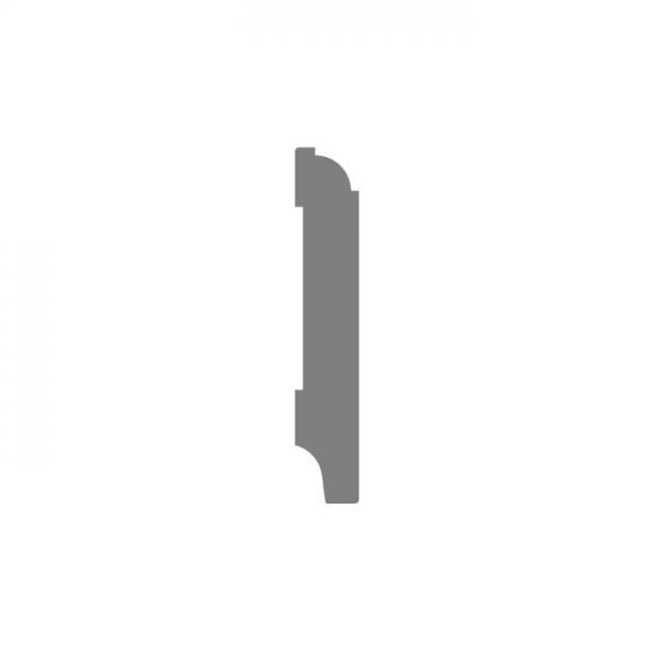 70x15 MDF Eigentijdse plint wit voorgelakt RAL 9010 2,4 meter per stuk