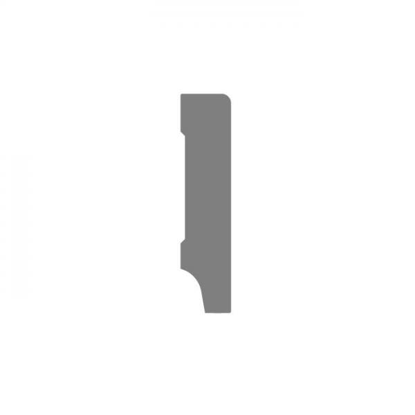 190x15 MDF Moderne rechte plint wit voorgelakt RAL 9010 2,4mtr p.st