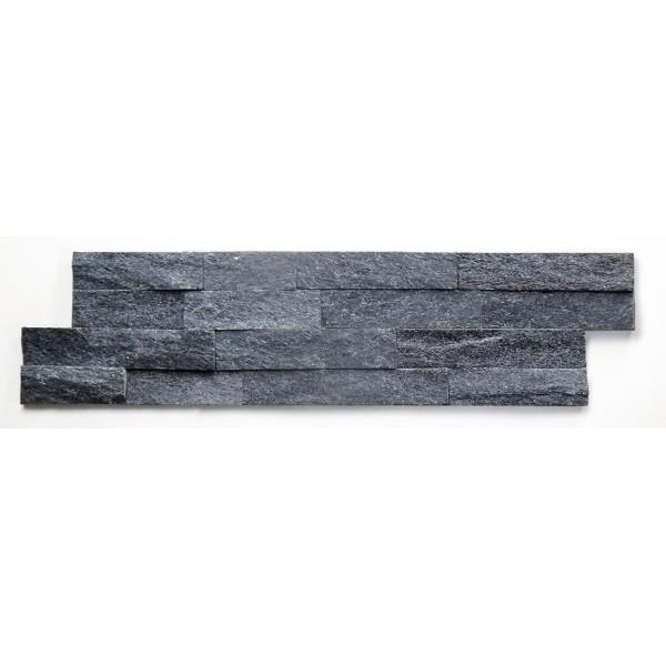 GRANDEUR TEGELSTRIP / BRICKSTONE ZWART MAT 0,36 M2 P. DOOS