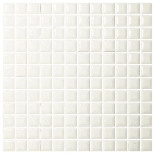 AQUACOLOR WHITE METRO 23X23X6 TEGELSTRIP / MOZAIK WIT GLANS 1 M2 P. DOOS